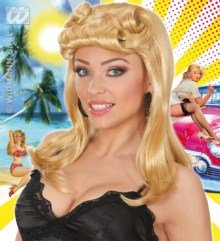 Pin Up Girl Blonde Wig (Ladies Pin Up Girl S - Blonde Wig For Hair Accessory Fancy Dress)