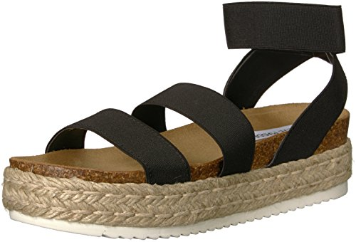Steve Madden Women's Kimmie Wedge Sandal, Black, 10 M US