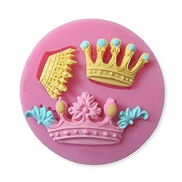 Crown Silicone Fondant Cake Mold Chocolate Sugar Craft Clay Mould // Corona fondant de silicona