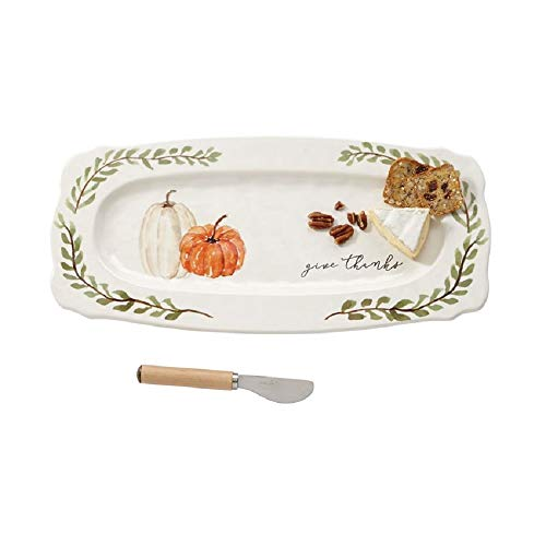 Mud Pie Give Thanks Pumpkin Hostess Platter