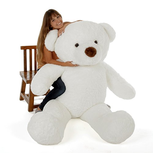 (Giant Teddy Original Bear Brand - Biggest Selection of Life Size Stuffed Teddy Bears (Snow White, 6 Foot))