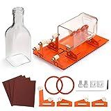 Cortador de botellas de vidrio, Version Actualizada Cortador de Botellas de Vidrio Máquina para Cortar Varios Tamaños & Formas de Botella, Redondo, Cuadrado, Botella Ovalada & Cuello de Botella