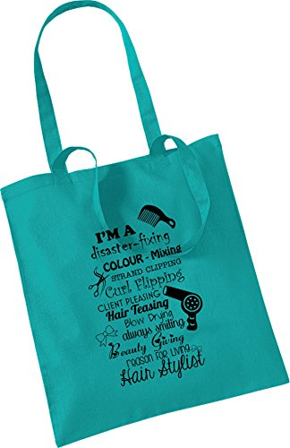 Bag Hairdresser Present Quote Green Christmas Gift Tote Xmas Cotton Keepsake 0rtnr