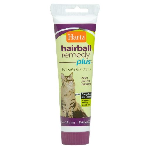 Hartz Hairball Remedy Plus for Cats and Kittens, Salmon Flavor, 2.5 Oz (Pack of 3), My Pet Supplies