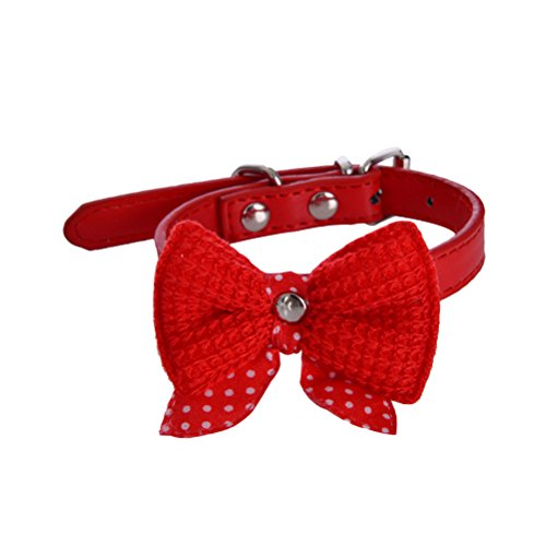 British Explosion Costumes (Uniquorn 2017 Latest Explosion Models Cute Bow Leather PU Dog Collar)