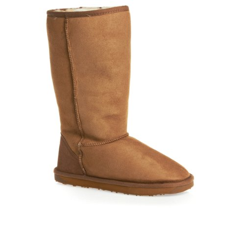 Just Sheepskin Ladies Tall Classic Sheepskin Boots Chestnut