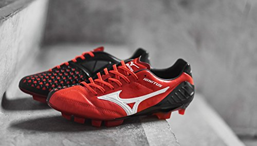 Mizuno Wave Ignitus 4KL Fussballschuhe en cuir Premium Rouge/Noir Taille 44