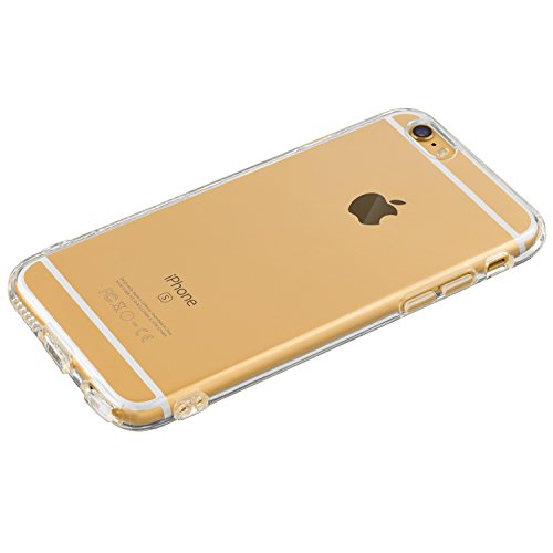 Highend Berry Original Soft TPU Case with Protective Cap for Charging/Headphones Port for iPhone 6 (Clear)