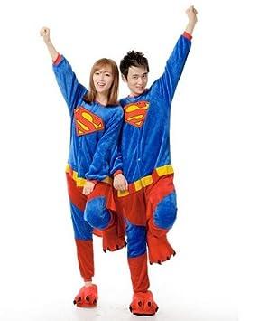ab1afc466b Superman Adult Men Women Animal Kigurumi Sleep suit Party Cosplay Cartoon  Animal Anime Costume Outfit Nonopnd