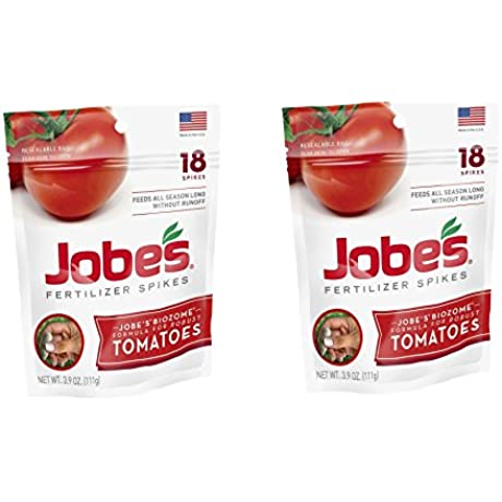 Jobes Tomato Fertilizer Spikes 6 18 6 Time Release Fertilizer For All Tomato Plants VNxKbV 36 Spikes Resealable Waterproof Pouch