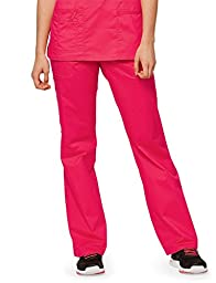 Core Stretch by Cherokee Workwear Women\'s Drawstring Scrub Pant X-Large Dragon Fruit