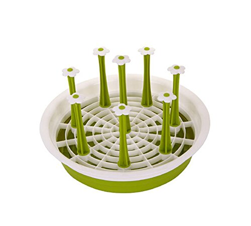 Cups Drying Rack Drainer Storage Organizer Thicken Round Cup Holders GREEN