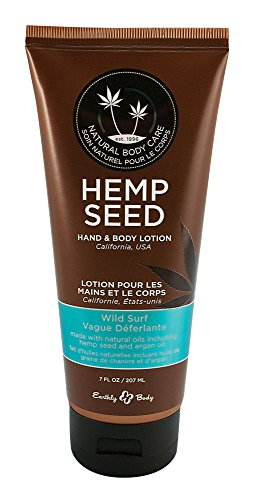Earthly Body Hemp Seed Hand & Body Velvet Lotion 7oz Tube - Assorted Scents (Wild Surf) 7 Ounce Lotion Tube
