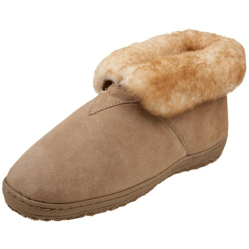 Old Friend Men's Sheepskin Bootee Slipper,Chestnut,8 (Friends Booties)