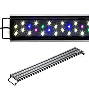 "AQUANEAT LED Aquarium Light Full Spectrum Fish Tank Light 12″ 20″ 24″ 30"" 36″ 48″ Multi-Color Fresh Water Light"
