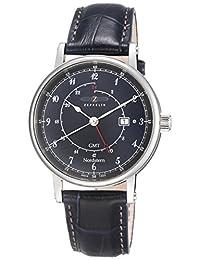 Zeppelin Nordstern Series Swiss Quartz GMT Watch with Coin-Edge Case 7546-3