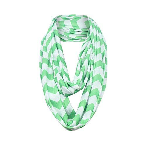 Women's Winter Scarf Warm Loop Scarf Infinity Wrap Hidden Zipper Pocket Warm Travel Couple Scarves HunYUN