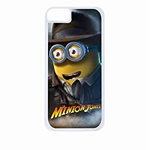 Minion Jones- Hard White Plastic Snap - On Case with Soft Black pc Lining-Apple Iphone 5c Only - Great Quality!