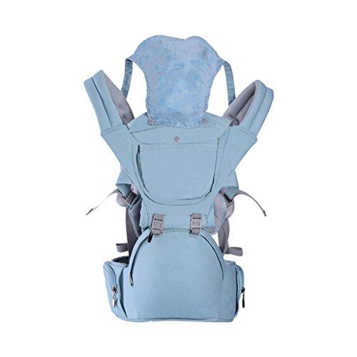 Baby-Schlinge Four Seasons Universal Breathable Umarmung 0-24 Monate Little Life Babytrage Rucksack Babytrage Rucksack mit Sonnenschutz (Farbe   A)