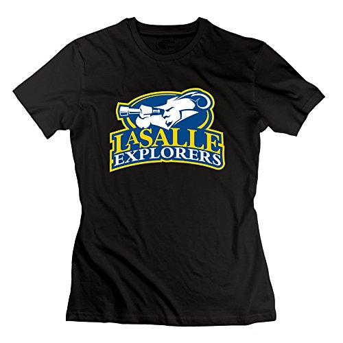 CXY Women's NCAA La Salle Explorers Team Logo T-Shirt Black [Apparel]