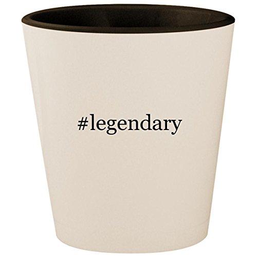 (#legendary - Hashtag White Outer & Black Inner Ceramic 1.5oz Shot Glass)