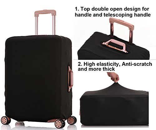 b5fed07a2409 HoJax Spandex Travel Luggage Cover, Suitcase Protector Bag Fits 19 ...