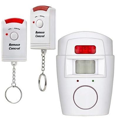 KERUI alarma sirena inalámbrica seguridad infrarrojos IR PIR Sensor Detector de movimiento 2 mando a distancia