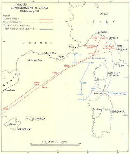Amazon.com: Bombardment of Genoa 9th Feb 1941. World War Two ...
