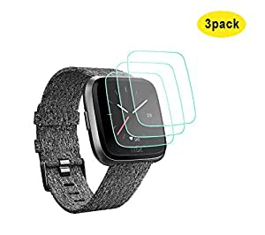 Kartice for Fitbit Versa Screen Protector,Kartice (3 Pack) Fitbit Versa Tempered Glass Screen Protector for Fitbit Versa watch (3 Pack)