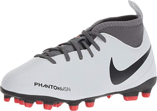 8ae8ae1a394 NIKE JR Hypervenom Phantom Vision Club DF MG Soccer Cleat (Pure Platinum)  (10C)