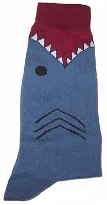 K. Bell Men's Shark Socks