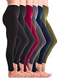 6-Pack Brushed Fleece Lined Thick Leggings