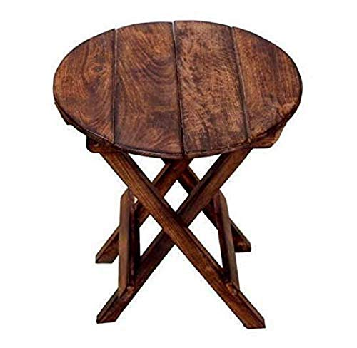 UNIQUE HANDICRAFTS Coffee Table Cum Side Table for Living Room Kids Furniture Outdoor Table (Round Shaped, 12x12x12)