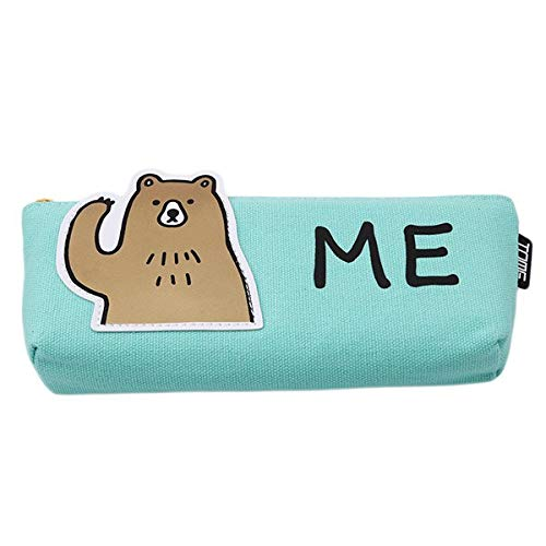 (Storage Bags - Animal Pencil Case Canvas School Stationery Gift Cute Box Pencilcase Bag Storage Bags Pc976566 - Resealable Closet Bins Quilt Lansinoh Glad Luggage Under Half Plastic Electronics)