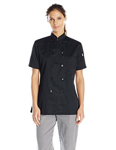 Uncommon Threads Tahoe Women's Fit Chef Coat, Black, - Uncommon Chef Threads