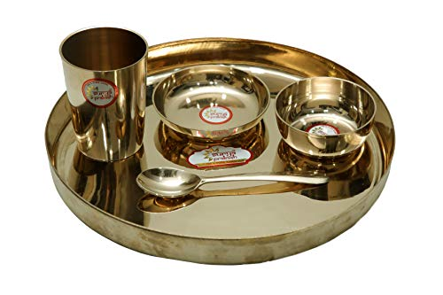 BHARATHAAT Dinner Set Bronze Collectible Handicraft Art by BharatHaatBH06926 (Custom Duty On Used Furniture In India)