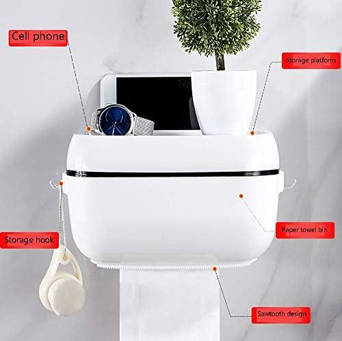 ALSGON Distributeur Papier Toilette sans Percage Nettoyage Facile Plastique Support Papier Toilettes sur Pied Sint/ègre /à Toutes Les Salles de Bains