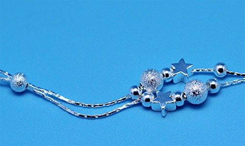 Cdet Double Star perles de sable clair Anklet Bracelet de Cheville Pied Femme Plage Accessoire Bijoux Plage Pieds