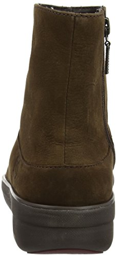 Donne Fitflop Loaff Shorty Zip Nubuck Stivali Albero Corto Marrone (color Cioccolato)