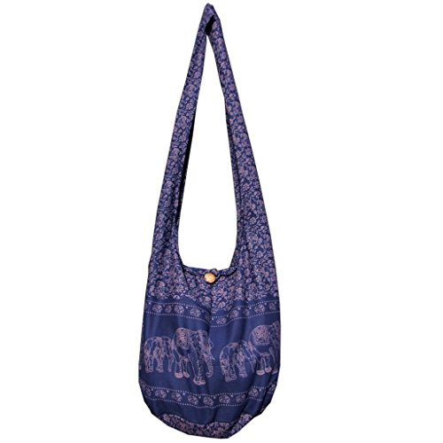 panaisam hombro bolsa, aquí en 2tamaños, 2elefante Diseño & muchos colores, con extra Interior Plástico y teléfono móvil–Bolsillo Interior, calidad 1A Azul - azul marino