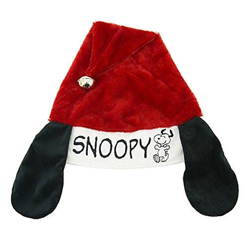 16 Inches Peanuts Snoopy Adjustable Santa Hat ()