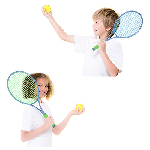 EXERCISE N PLAN Tennis Racket Set with Tennis Ball for Kids, Sports Junior Tennis Racquet, Kids Training Tennis Balls