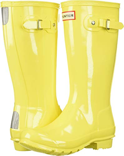 Hunter Kids Unisex Original Kids' Gloss Rain Boot (Little Kid/Big Kid) Wader Yellow 5 M US Big - Boots Rain Yellow Hunter