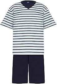 Conjunto de pijama Curto - Gola V - Listrado Lupo Meninos (Infantil)