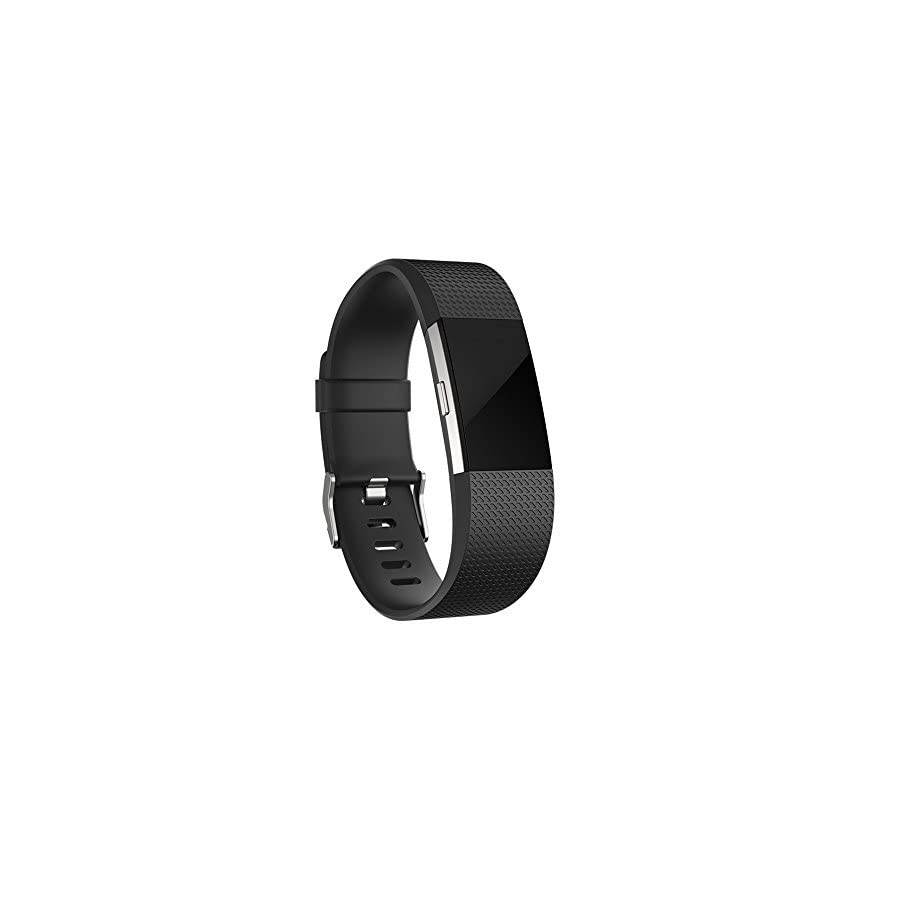iGK For Fitbit Charge 2 Bands, Adjustable Replacement Bands with Metal Clasp for Fitbit Charge 2 Wristbands Classic Edition Black Small