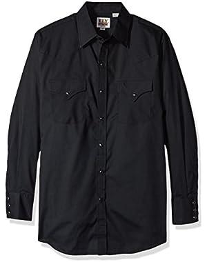 ELY CATTLEMAN Men's Long Sleeve Solid Western Shirt - 208879-01