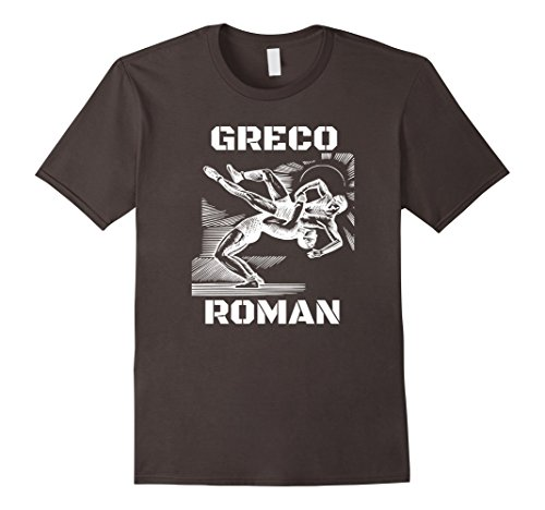 Mens Greco Roman Wrestling T-Shirt USA XL Asphalt by Greco Roman T-Shirt