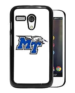 NCAA Middle Tennessee Blue Raiders 4 Black Hard Shell Phone Case For Motorola Moto G