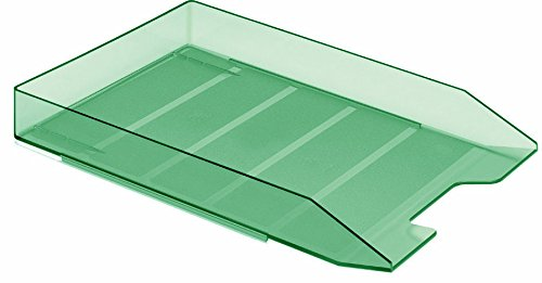 Acrimet Stackable Letter Tray (Clear Green Color) (1 Unit)