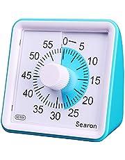 Visual Timer for Kids Autism Teacher - Searon Kids Countdown Timer Silent 60 Minute Countdown Clock Optional Alarm (3S/60S) Loud/Low Soud for Kid Teacher Classroom Meeting Kids Children Adults